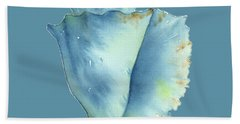Blue Conch Shell Hand Towel