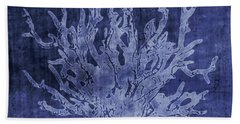 Blue Coral- Art By Linda Woods Hand Towel