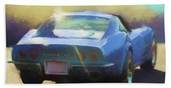 Blue Corvette Bath Towel