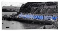 Blue Cottages At Portree Harbour 5 Bath Towel