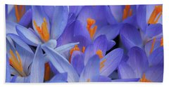 Blue Crocuses Bath Towel