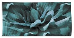 Blue Dahlia Dreams Bath Towel
