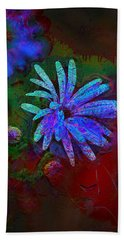 Hand Towel featuring the photograph Blue Daisy by Lori Seaman