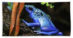 Blue Dart Frog Bath Towel