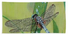 Blue Dasher Bath Towel by Terri Mills