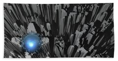 Hand Towel featuring the digital art Blue Diamond In The Rough by Phil Perkins