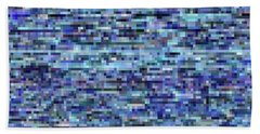 Blue Digital Noise Bath Towel