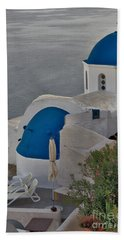 Bath Towel featuring the photograph Blue Domes by Jeremy Hayden
