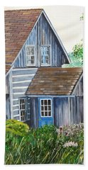 Blue Door Hand Towel by Marilyn  McNish