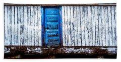 Blue Door Old Mill Building Hand Towel