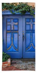 Blue Doors - Old Town - Albuquerque Bath Towel