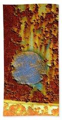 Blue Dot Metal Bath Towel