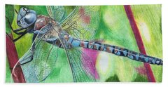 Blue Dragonfly Bath Towel