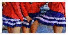 Blue Dress Breeze Hand Towel