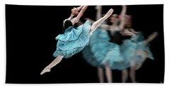Bath Towel featuring the photograph Blue Dress Dance by Dimitar Hristov