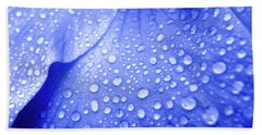 Blue Droplets Bath Towel