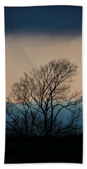 Hand Towel featuring the photograph Blue Dusk by Chris Berry