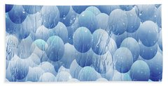 Bath Towel featuring the photograph Blue Eggs - Abstract Background by Michal Boubin
