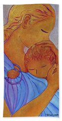 Blue Embrace Hand Towel by Gioia Albano