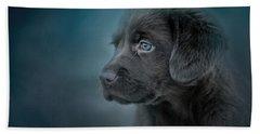Blue Eyed Puppy Bath Towel by Jai Johnson