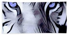 Blue Eyed Tiger Bath Towel