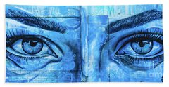 Blue Eyes Hand Towel