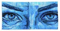 Blue Eyes Bath Towel