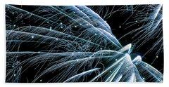 Blue Fairy Fireworks #0710_3 Hand Towel