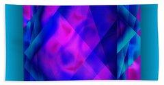 Bath Towel featuring the digital art Blue Fashion by Mihaela Stancu