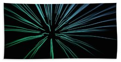 Bath Towel featuring the photograph Blue Firework by Chris Berry