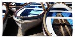 Blue Fishing Boats Bath Towel