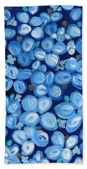 Blue Floral Frenzy Hand Towel