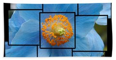 Blue Flower Photo Sculpture  Butchart Gardens  Victoria Bc Canada Hand Towel