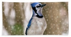 Blue For You Hand Towel by Evelina Kremsdorf