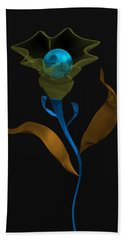 Hand Towel featuring the digital art Blue Fruit And Flower by Alberto RuiZ