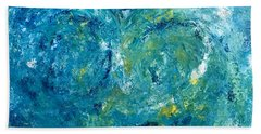Hand Towel featuring the painting Blue Galaxy by Dorothy Maier