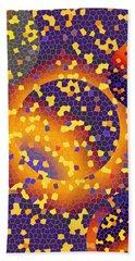 Hand Towel featuring the digital art Blue Galaxy by Lynda Lehmann