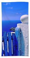 Blue Gate Bath Towel by Silvia Ganora