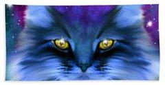 Blue Ghost Cat Bath Towel