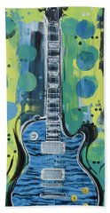 Blue Gibson Guitar Hand Towel
