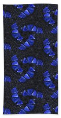 Blue Glass  Hand Towel