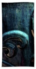 Blue Glazed Vessel Detail Digital Painting 2365 Dp_2 Hand Towel
