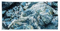 Bath Towel featuring the photograph Blue Gnome Rock by Daniel Hebard