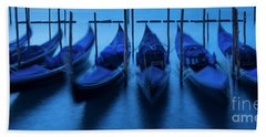Hand Towel featuring the photograph Blue Gondolas by Brian Jannsen