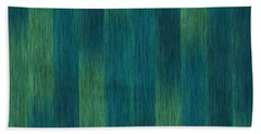 Blue Green Abstract 1 Bath Towel