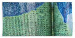 Blue/green Abstract Bath Towel