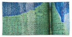 Blue/green Abstract Hand Towel