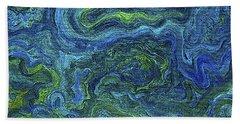 Blue Green Texture Bath Towel
