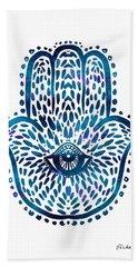 Blue Hamsa Hand Hand Towel