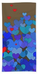 Blue Hearts Hand Towel